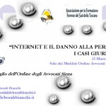 Copertina INTERNET E IL DANNO ALLA PERSONA D Bianchi Convegno SIENA 13 marzo 2013